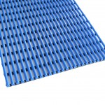PVC Tube Floor Mat Blue